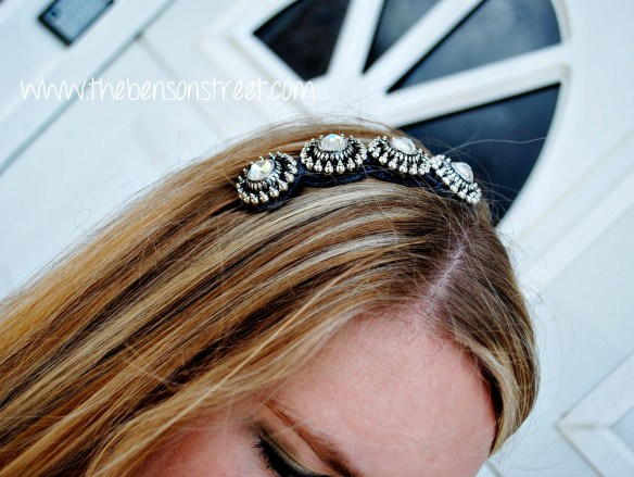 Downton Abbey Inspired Headband at www.thebensonstreet.com 8