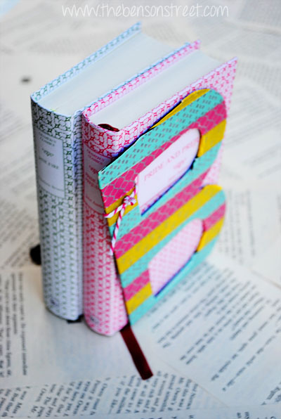 Washi Bookends with www.thebensonstreet.com