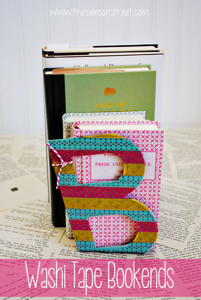 Washi Tape Bookends at www.thebensonstreet.com