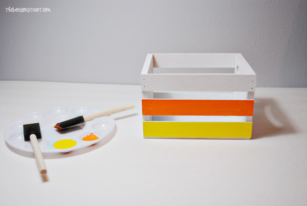 Candy Corn Style Crate at thebensonstreet.com
