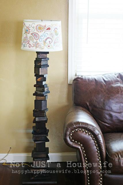Scrap Wood Lamp Stand