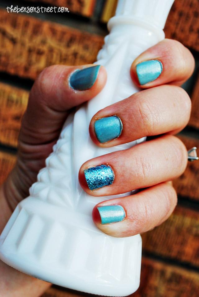 Cinderella Inspired Nail Art at thebensonstreet.com
