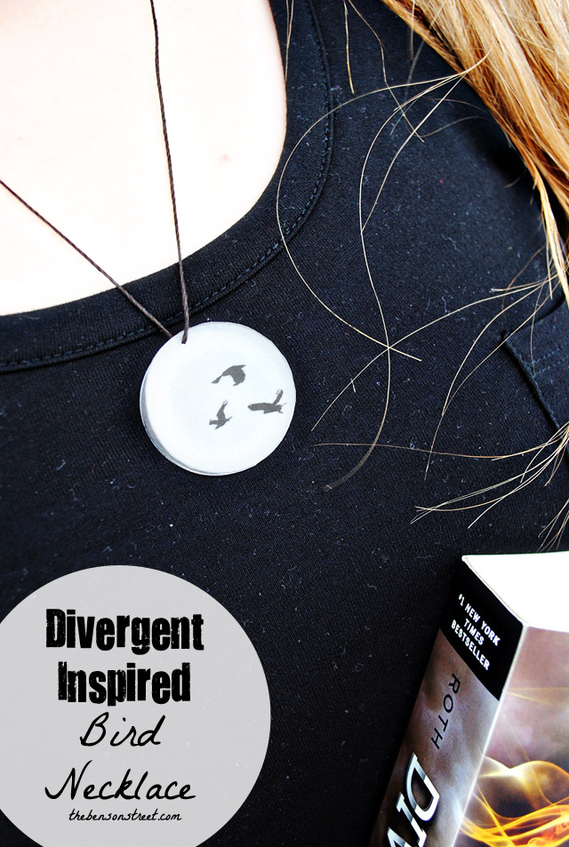 Easy Divergent Inspired Bird Necklace Idea at thebensonstreet.com