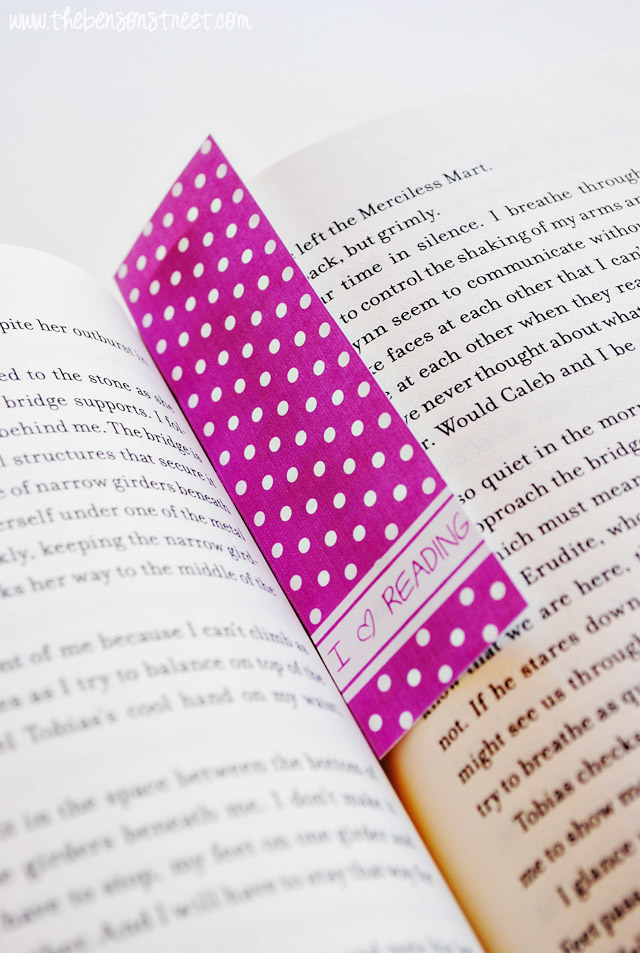 I Heart Reading Bookmark Printables at www.thebensonstreet.com