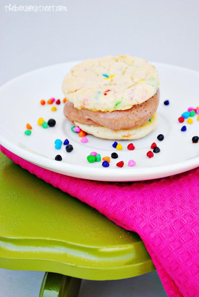 Yummy Funfetti Ice Cream Sandwich Cookies at thebensonstreet.com