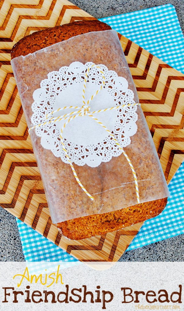 Amish Friendship Bread Recipe at thebensonstreet.com