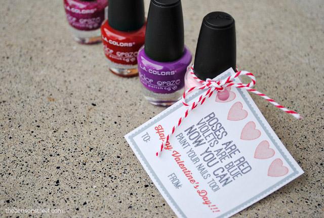 Nail Polish Valentine Gift Tag