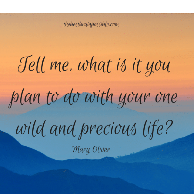 I plan to live an intentional life making conscious decisions about who I want to be and behaving accordingly.