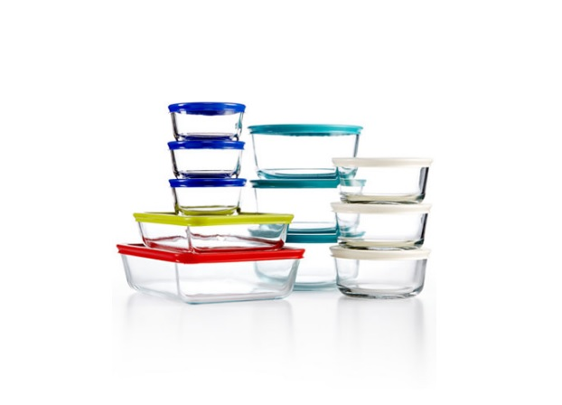 Pyrex 22 Piece Food Storage Container Set for $24.99 at Macys