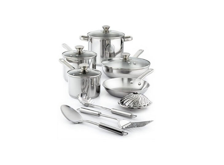 Tools of the Trade Stainless Steel 13-Pc. Cookware Set for 29.99 at Macy's Was $119.99