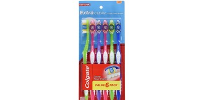 6 Count Colgate Extra Clean Full Head Toothbrush