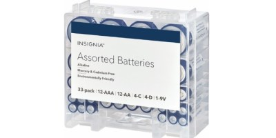 33-Pack Insignia Assorted Batteries with Storage Box