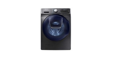 Samsung Cubic Feet 14 Cycle Addwash High-Efficiency Front Loading Washer with Steam Black Stainless