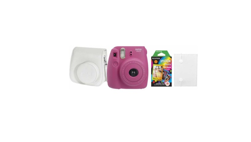 Fujifilm instax mini 8 Instant Film Camera Bundle Hot Pink