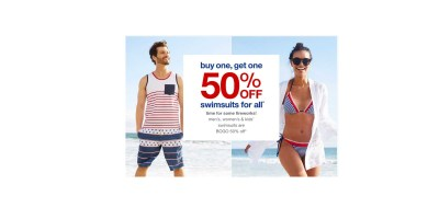 Buy one & Get 50% off swimsuits