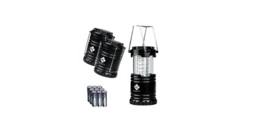 Etekcity 3 Pack Portable Outdoor LED Lantern with 9 AA Batteries – Camping Friendly