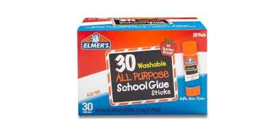 30 Pack, 0.24-ounce sticks - Elmer's All Purpose School Glue Sticks Washable