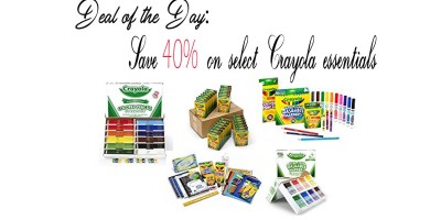 Deal of the Day – Save 40% on select Crayola essentials