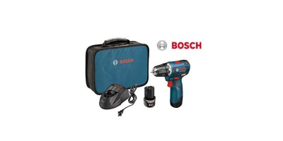 Bosch PS32-02 12-volt Max Brushless 3 8-Inch Drill-Driver Kit with 2.0Ah Batteries – Charger and Case