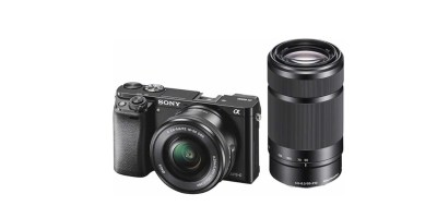 Sony – Alpha a6000 Mirrorless Camera with 16-50mm and 55-210mm Lenses
