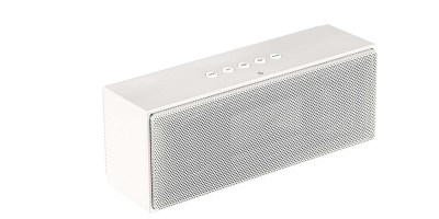 AmazonBasics Wireless Bluetooth Dual 3W Speaker with Built-in Microphone – White