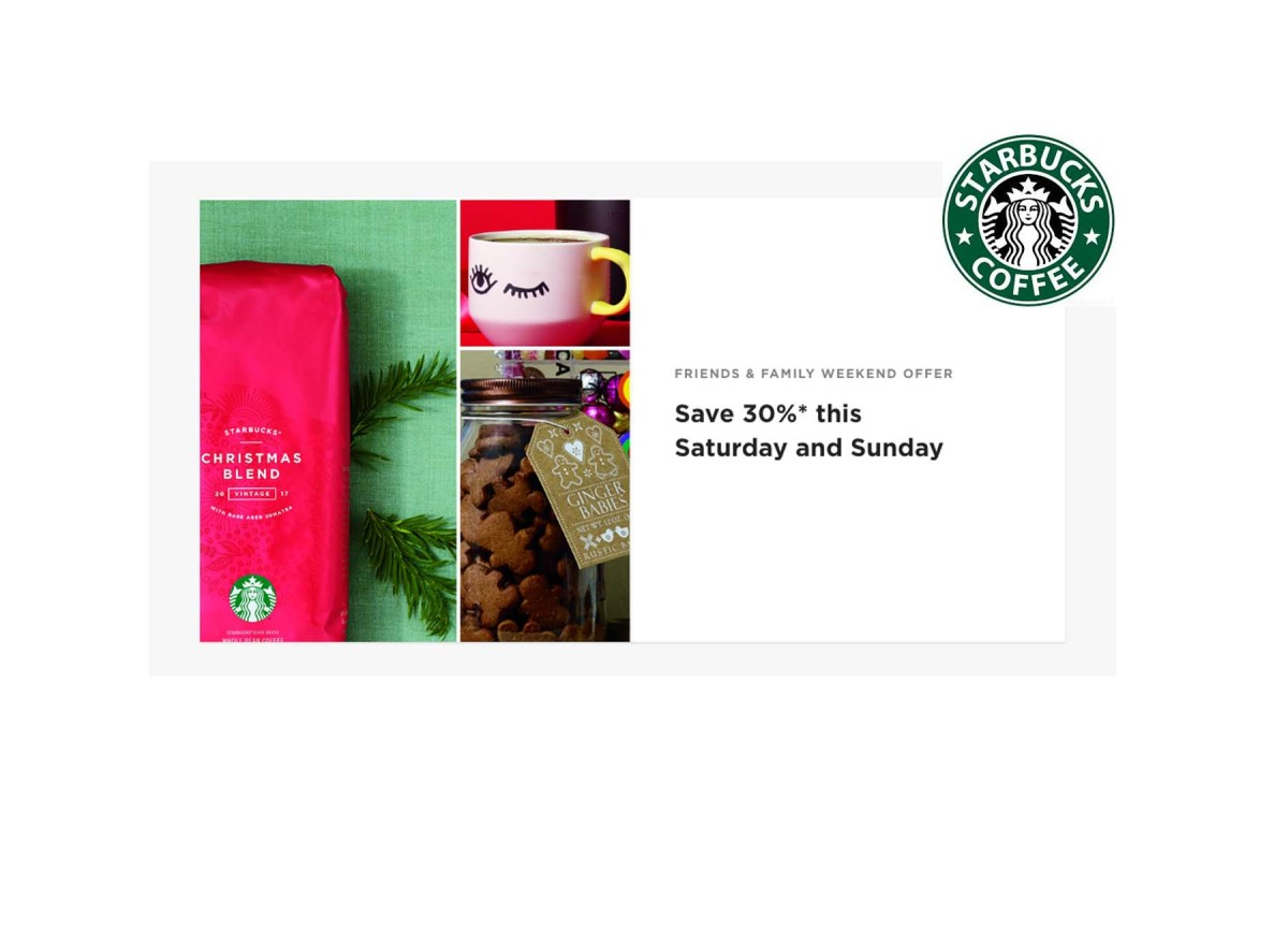30% off Food and Beverages at Starbucks In-Stores