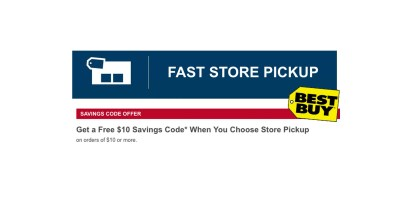 Get a Free $10 Savings Code* When You Choose Store Pickup