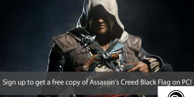 Sign up to get a free copy of Assassin's Creed Black Flag on PC
