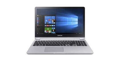 "Samsung - 2-in-1 15.6"" Touch-Screen Laptop - Intel Core i7 - 12GB Memory - NVIDIA GeForce 940MX - 1TB Hard Drive (Platinum Silver)"