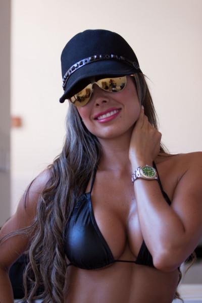 Black String Bikini Top