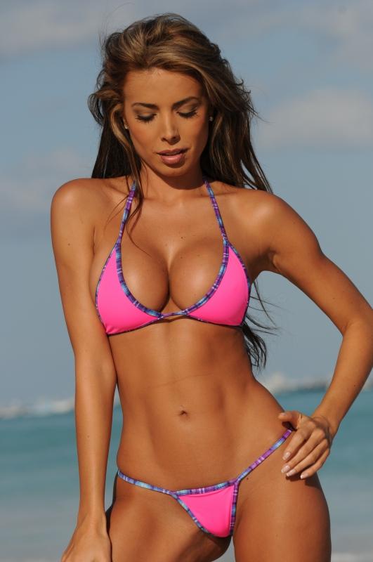 Pink G String Bikini