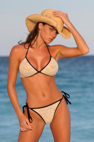 White Trimmed Bikini