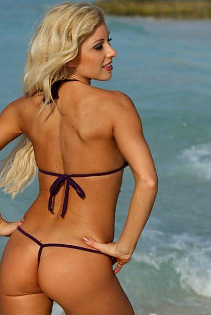 Teeny G String Bikinis Back View