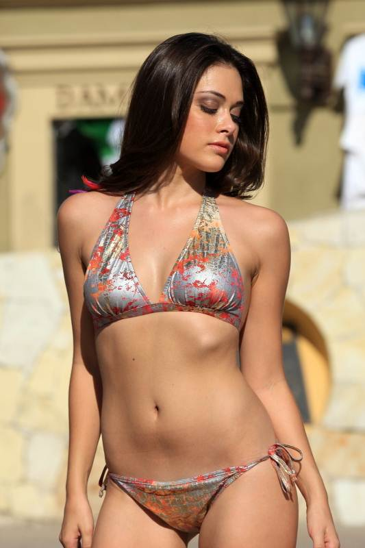 Bikinis For Women with Smaller Chests Metallic