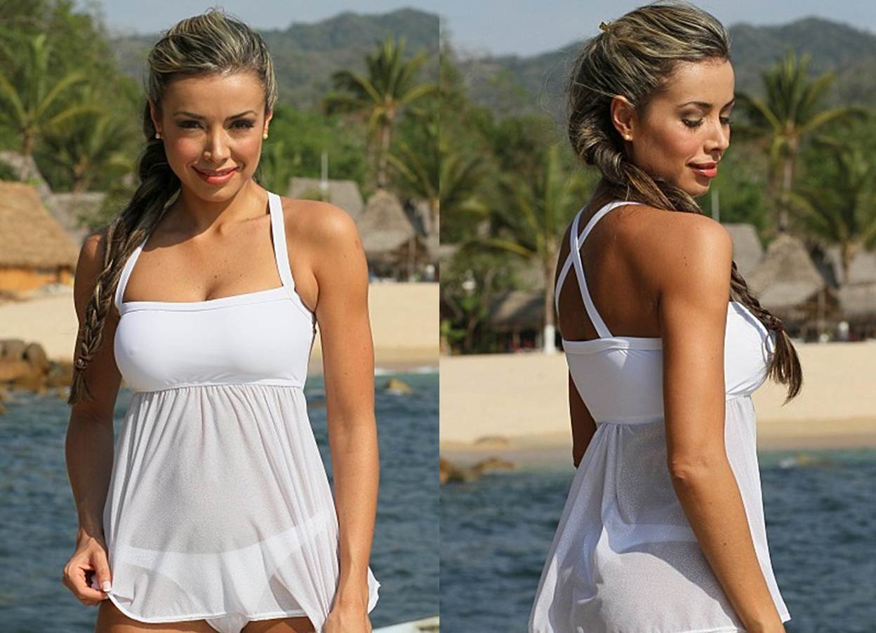 How to Buy your Girlfriend a Thong Bikini White Thong Sheer Tankini Top