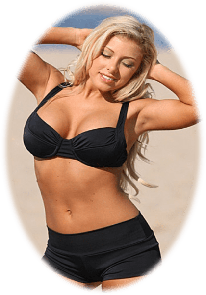 Black full coverage sport bikinis