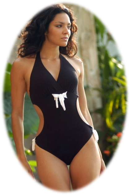 Sexy Cutout Black One Piece Swimsuits