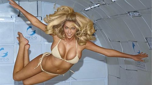 Bikini Clad Kate Upton Flying High