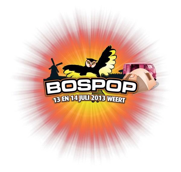 Logo Bospop 2013 met beeldmerk zon