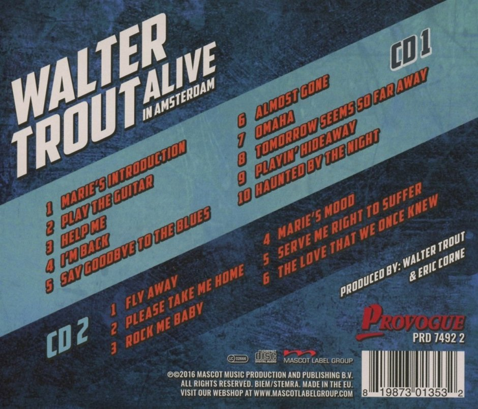 Walter Trout Alive in Amsterdam back