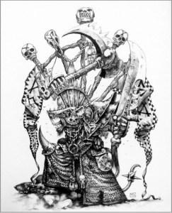 Queek Headtaker, by Games Workshop Artist Mark Gibbons.