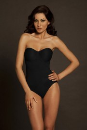 Body Wrap Strapless Pinup Bodysuit with Molded Cups