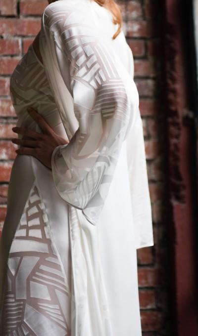 Layneau Alla silk robe
