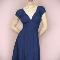 1940's Navy Dress by Trashy Diva
