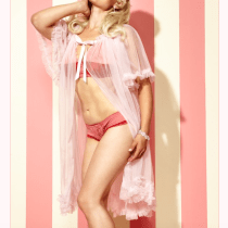 Dottie's Delights Short Sheer Dressing Robe