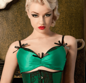 Kiss Me Deadly Emerald DeVille Bra