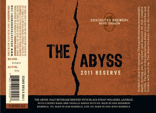Deschutes Brewery's The Abyss label