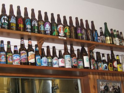Alaksan Brewing's beer bottle collection