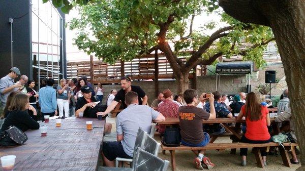 Karl Strauss beer garden