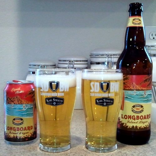 Kona Longboard Lager, can vs. bottle